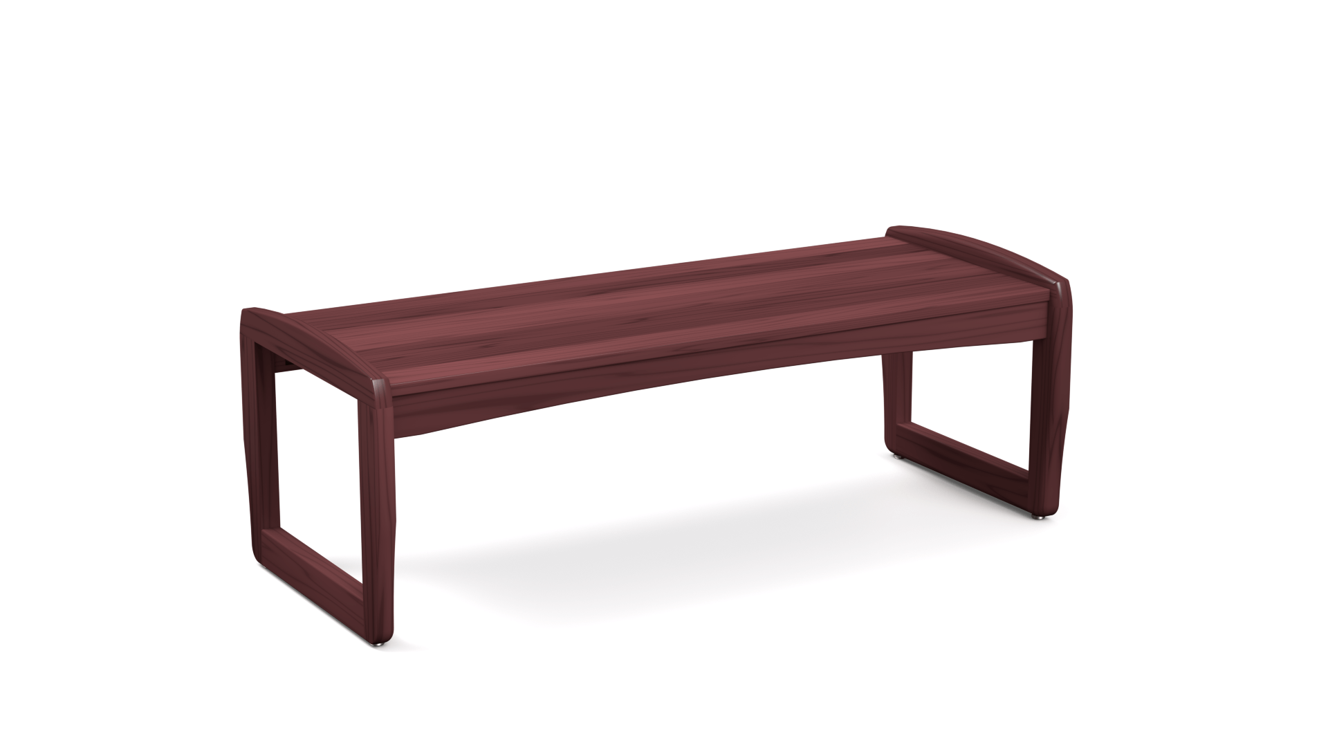 Boardwalk Coffee Table With Sled Base